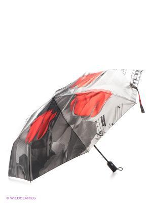 Зонт Flioraj. Цвет: антрацитовый, красный