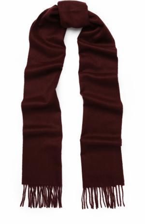 Вязаный шарф из кашемира с бахромой Johnstons Of Elgin. Цвет: бордовый