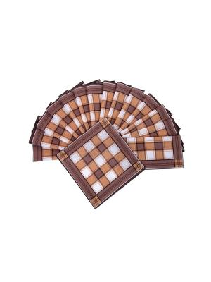 Носовой платкок (к-т 15 шт) ИМАТЕКС. Цвет: коричневый, белый
