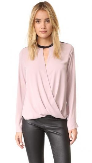 Фирменная блуза с длинными рукавами And B. Цвет: темная орхидея