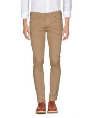 Повседневные брюки ZERO. Цвет: песочный