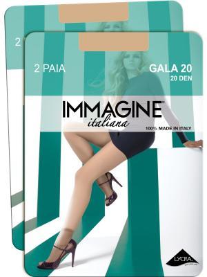 Носки, 4 пары Immagine. Цвет: светло-бежевый