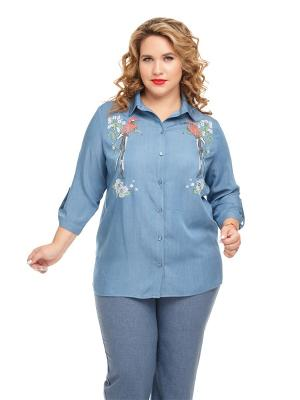 Блуза Маранг Царевна. Цвет: синий