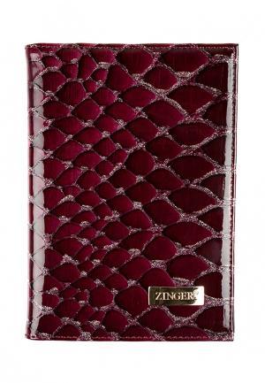 Обложка для документов Zinger. Цвет: фиолетовый