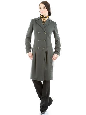 Пальто Levall. Цвет: темно-зеленый