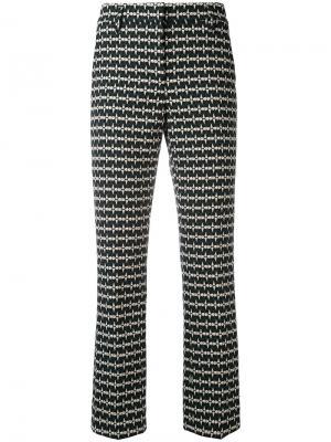 Укороченные брюки с принтом Dorothee Schumacher. Цвет: зелёный