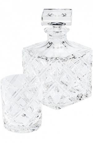 Набор из штофа и 4-х стаканов для виски Aberdeen Tsar. Цвет: бесцветный