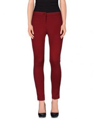Повседневные брюки TO-MAY. Цвет: красно-коричневый