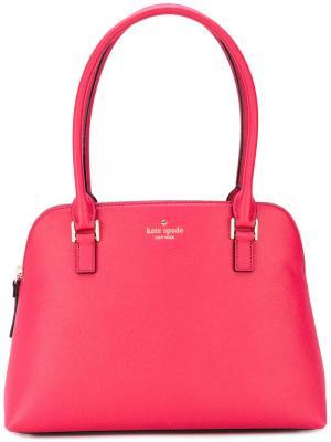 Структурированная сумка-тоут с кисточками Kate Spade. Цвет: розовый и фиолетовый