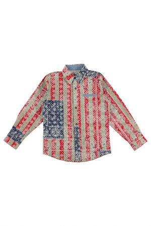Рубашка IDO. Цвет: мультиколор