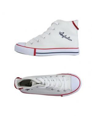 Высокие кеды и кроссовки AUSTRALIAN. Цвет: белый