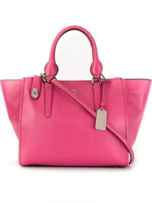Сумка-тоут Coach. Цвет: розовый и фиолетовый