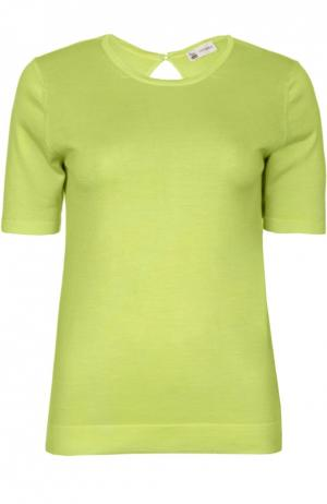 Вязаная футболка Colombo. Цвет: салатовый