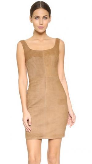 Замшевое платье Nomad Bailey44. Цвет: голубой