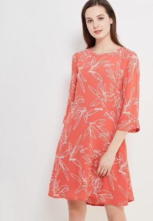Платье Vila. Цвет: коралловый