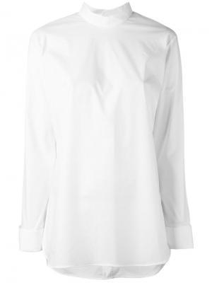 Блузка с застежкой на спине Enföld. Цвет: белый