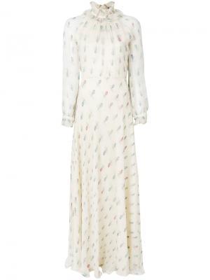 Платье с принтом Abigail Vilshenko. Цвет: телесный