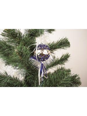 Набор для бисероплетения  Шар синий с подвесками Матренин Посад. Цвет: серый, белый, синий