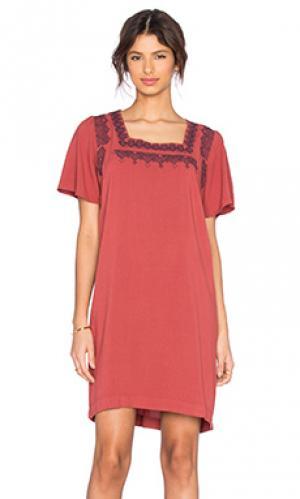 Платье roxane MKT studio. Цвет: ржавый