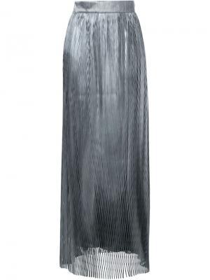 Длинная резная юбка Iris Van Herpen. Цвет: металлический