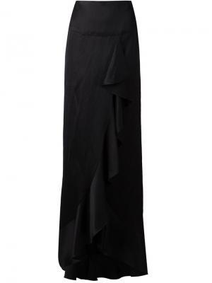 Длинная юбка с обрками Juan Carlos Obando. Цвет: чёрный