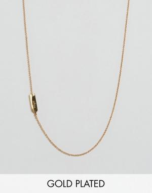 Gorjana Ожерелье со знаком зодиака Дева. Цвет: золотой