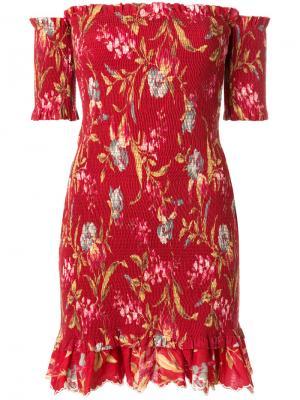 Платье Corsair Flutter Zimmermann. Цвет: красный