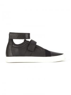 Кожаные ботинки Gloria Coelho. Цвет: чёрный