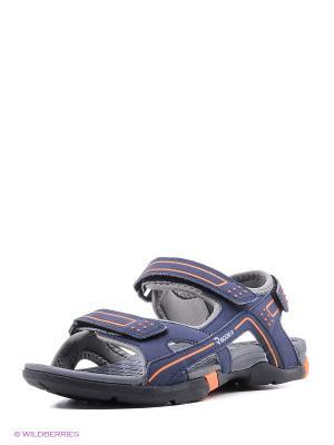 Мужские сандалии Radder. Цвет: синий, черный