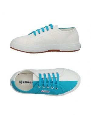 Низкие кеды и кроссовки SUPERGA®. Цвет: бирюзовый