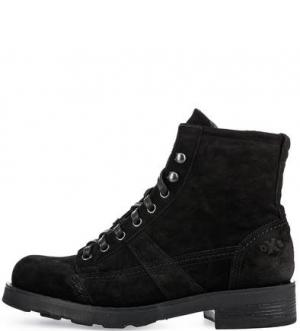 Черные замшевые ботинки O.X.S.. Цвет: черный