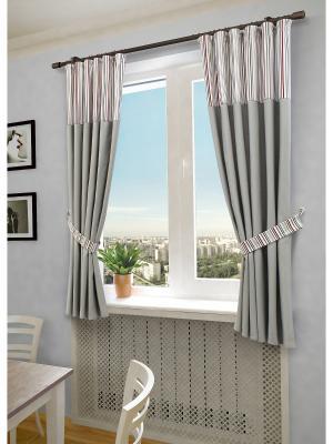 Комплект штор SANPA HOME COLLECTION. Цвет: серый