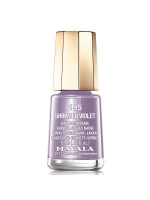 Лак для ногтей тон 195 Shimmer violet Mavala. Цвет: фиолетовый