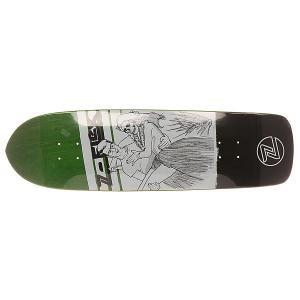 Дека для скейтборда лонгборда  Darling Companion Green 33 x 9.5 (24.1 см) Z-Flex. Цвет: зеленый,черный,белый