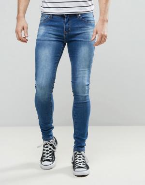 Always Rare Супероблегающие джинсы Mickey. Цвет: синий