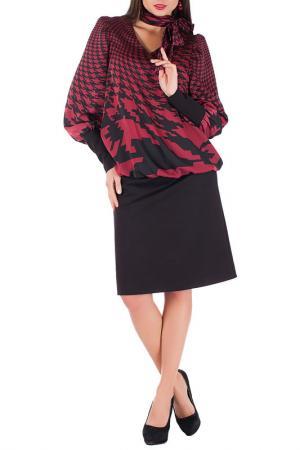 Платье Mannon. Цвет: бордово-черный