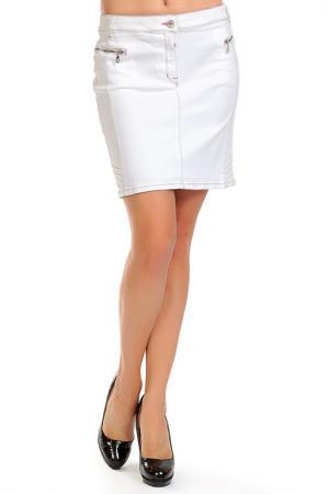 Skirt PPEP. Цвет: white