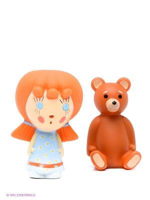 Пластизоль Машины игрушки Маша и медведь. Цвет: оранжевый