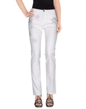 Джинсовые брюки GAI MATTIOLO JEANS. Цвет: белый