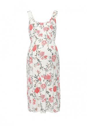 Платье Mamalicious. Цвет: белый