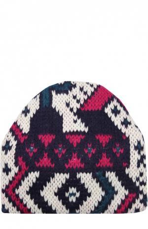 Вязаная шапка с узором Tak.Ori. Цвет: белый