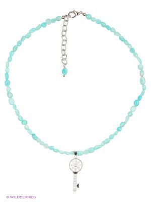 Ожерелье Polina Selezneva. Цвет: голубой