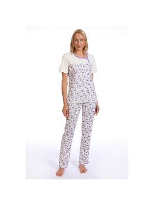 Пижама SOFT SECRET. Цвет: молочный