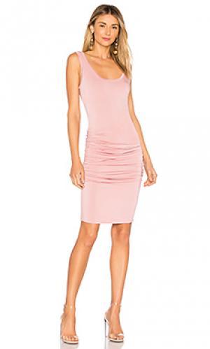 Платье frankie LA Made. Цвет: розовый