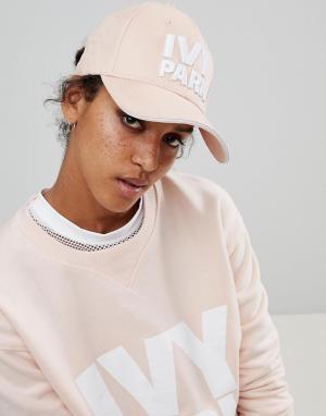 Ivy Park Розовая кепка с логотипом. Цвет: розовый