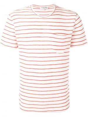Полосатая футболка YMC. Цвет: белый