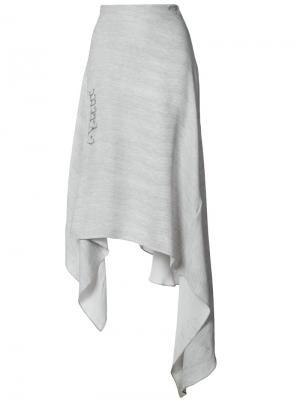 Асимметричная юбка Prabal Gurung. Цвет: серый