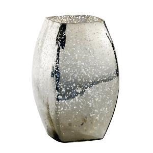 Ваза декоративная из стекла с напылением, Elda La Redoute Interieurs. Цвет: серый серебристый