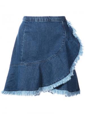 Джинсовая юбка Tamy Tanya Taylor. Цвет: синий