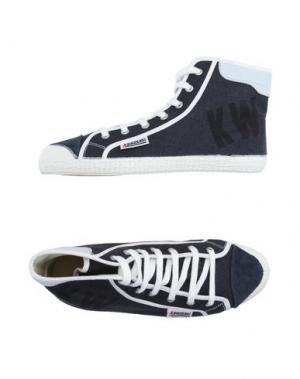 Высокие кеды и кроссовки KAWASAKI. Цвет: темно-синий